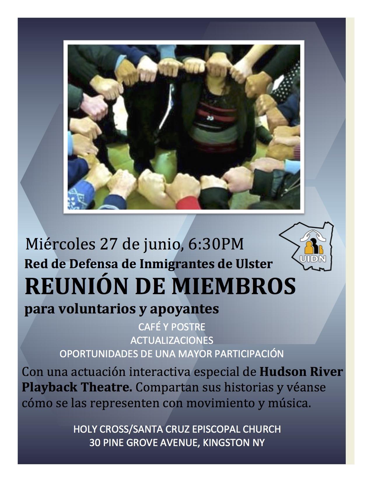 REUNION DE MIEMBROS 27 de junio